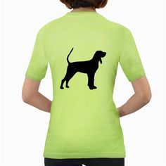 Black+And+Tan+Coonhound+Silo+Black+Women's+Green+T-Shirt