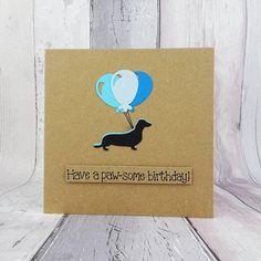 Happy Birthday Name, Dog Birthday, Funny Birthday Cards, Handmade Birthday Cards, Greeting Cards Handmade, Funny Cards, Cute Cards, Cards Diy, Pun Card