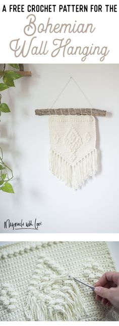 Free Crochet Pattern - The Bohemian Wall Hanging — Megmade with Love
