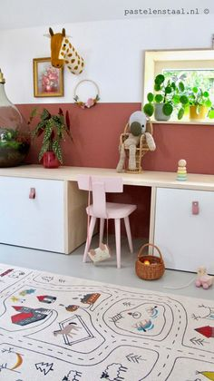 Ikea Kids Storage, Ikea Hack Kids, Ikea Kids Room, Playroom Storage, Kids Room Art, Kids Room Design, Kids Bedroom, Ikea Bench, Ikea Stuva