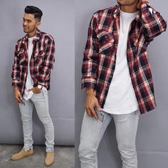 By - Hottest Men's Trends and Trending Styles - Celebrities and Pop - Inspiration for Bargain Hunters - Street Style Guide for Fashionistas and Shopaholics - Casual Men's and Accessories - Magazine Teaching Mens Fashion, Outfits Hombre, Flannel Outfits, Stylish Mens Fashion, Fashion Outfits, Fashion Trends, Men's Fashion, Urban Fashion Men, Fashion 2018