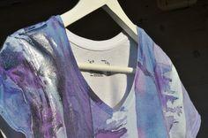 SILVER Watercolour on Tshirt by ACQUARELLIfashion, €60.00