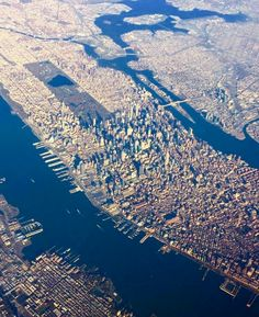 New York Manhattan Manhattan New York, New York From Above, Places To Travel, Places To Visit, New York Pictures, City Aesthetic, Dream City, New York Travel, Aerial Photography
