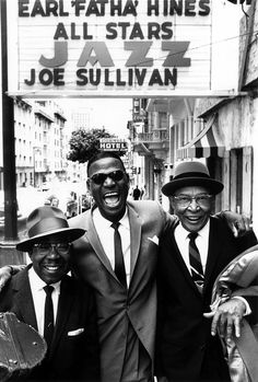 "Jimmy Archey, Earl ""Fatha"" Hines, and Pops Foster, photo by William Claxton."