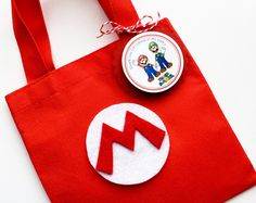 Personalized Party Supplies and more! Video Game Party, Party Games, Personalised Party Bags, Mario Y Luigi, Ideas Para Fiestas, Super Mario Bros, Goodie Bags, Party Supplies, Baby Shower