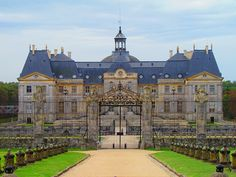 Château de Vaux-le-Vicomte, France. Louis XIV was so jealous of this place, he stole the designers and threw the owner in jail. Then Versailles was created.
