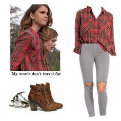 Malia Tate - tw / teen wolf by shadyannon on Polyvore featuring polyvore fashion style Topshop Steve Madden Antler clothing
