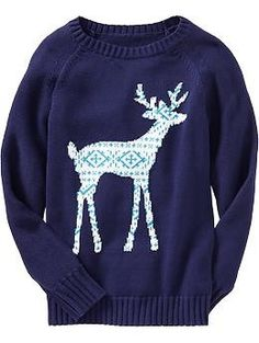 Girls Giraffe Sweater, $69.95. Features sleeve with giraffe spot ...