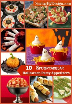 No costume party is complete without the perfect Halloween appetizers! | SavingByDesign.com #Halloween #trickortreat #appetizer #fall #spooky