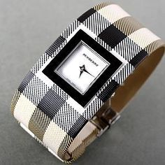 Burberry Women's Square Dial Pyramid Bracelet Watch
