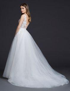 Lazaro Style 3656 Bridal Gown Back