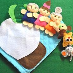 大きなかぶ(お話しミトン) Puppets, Toys, Creema, Grande, Felt Books, Ideas, Historia, Activity Toys, Clearance Toys