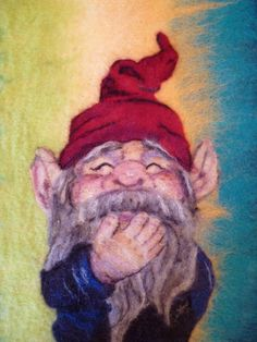 Hand felted gnome art by MarmaladeRose on Etsy