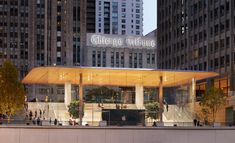 The first in a new generation of Apple stores has opened in the heart of Chicago, designed by Foster + Partners.