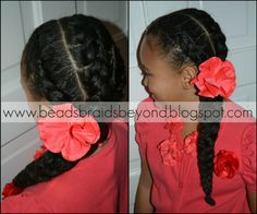 Beads, Braids and Beyond: 3 Cornrows to the Side into One Large Braid