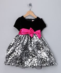 Take a look at this Black & Silver Flower Dress - Infant & Toddler on zulily today!