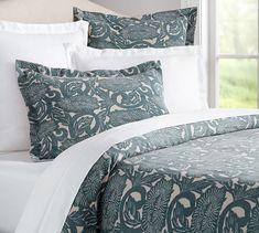 Shibori Floral Duvet Cover & Shams   Pottery Barn