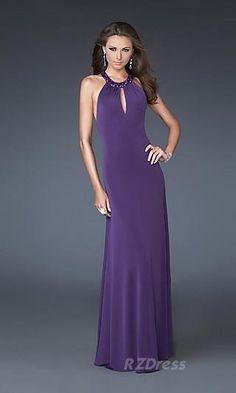 Round Long Dress Purple Sheath Dress RZ028214
