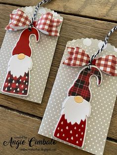 Gnome Gift Card Pockets with Bows (Cimbacreativefun) - Gnome Gift Card Pockets . - Gnome Gift Card Pockets with Bows (Cimbacreativefun) – Gnome Gift Card Pockets with Bows – - Christmas Gift Card Holders, Xmas Cards, Holiday Cards, Christmas Gnome, Handmade Christmas, Christmas Crafts, Gift Cards Money, Handmade Gift Tags, Winter Cards
