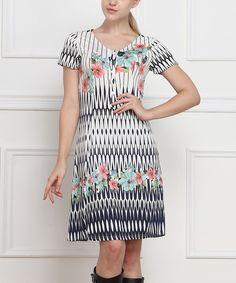 Scoop neck maxi dress chevron