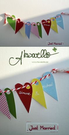 Glückwünsche zur HOCHzeit by Akwarello #wedding #love #heart #Herzen #Liebe #greetingcards #congratulation #felicitation
