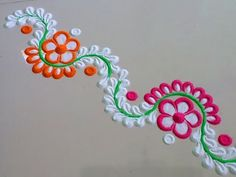 Easy 5 minutes freehand border rangoli designs | Borders Designs for doors | Creative Designs ! - YouTube