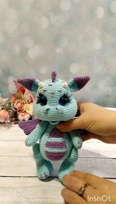 Amigurumi patterns / tutorial dragon / pattern in English Crochet PATTERN Dragon. Crochet pattern in English The full crochet pattern consists of 20 pages of the detailed, step-by-step descriptio Crochet Elephant Pattern, Crochet Amigurumi Free Patterns, Crochet Dolls, Knitting Patterns, Dragon En Crochet, Crochet Mignon, Dragon Pattern, Amigurumi Toys, Cute Crochet