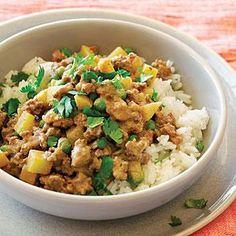 Lamb Keema with Potatoes and Peas Recipe | MyRecipes.com