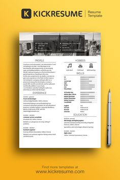 Create The Perfect Resume Amazing Create Stand Out Resume And Get Hired Www.kickresume Resume .