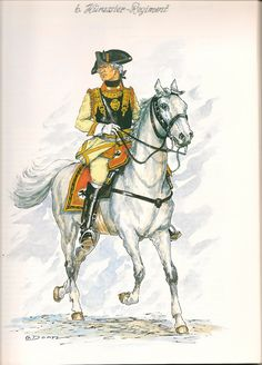 SYW- Prussia: Prussian 6th Cuirassier Regiment, Senior Officer, 1756, by Günter Dorn.