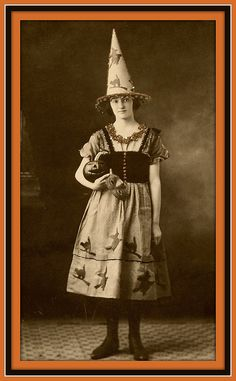 1920's Halloween Witch.  Another perfect photo to use in my miniature dollhouse 'haunted/witch's house'!  just shrink down, print, and display in a photo frame!!
