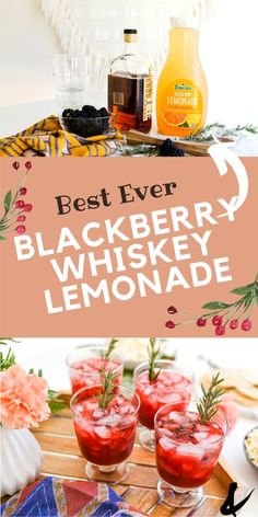 This easy Blackberry Whiskey Lemonade cocktail is a great drink to serve to friends and family. With muddled fresh blackberries and flavored lemonade, this easy whickey cocktail is great for a crowd and great to serve at parties. Whiskey Lemonade, Lemonade Cocktail, Fruit Drinks, Alcoholic Drinks, Beverages, Fun Cocktails, Cocktail Recipes, Star Fruit Recipes, Blackberry Whiskey