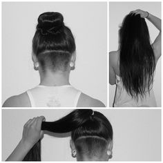 undercut long hair women - Google Search