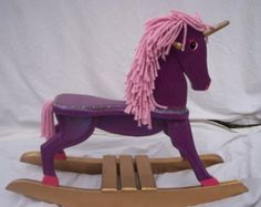 custom made wooden rocking horses
