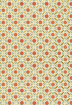 Wallcovering / Wallpaper | Serallo Mosaic in Persimmon | Schumacher