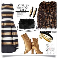 How To Wear Gold stories from the city (TFS) Outfit Idea 2017 - Fashion Trends Ready To Wear For Plus Size, Curvy Women Over 20, 30, 40, 50