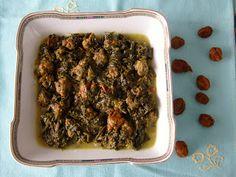 Khoresh con spinaci e prugne - Khoresh Aloo Esfenaj