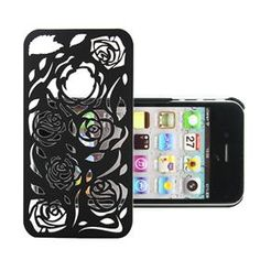 Beautiful Piercing Rose Flower Pattern Back Case Cover For iPhone 4 4S  $4.40
