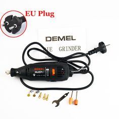 (Black / Orange) 220V 130W EU Plug [Dremel Type] Variable Speed Electric Rotary Tool Mini Drill with Accessories FREE SHIPPING