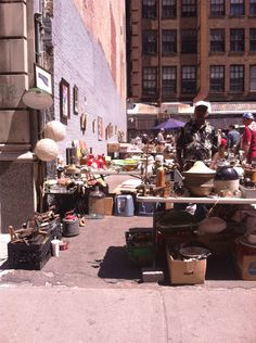 while in New YORK: There's a tiny little open-air flea market in a lot on 25th st just east of the Chelsea Flea/Antiques Garage (my favorite!) 25th street between 6th and 7th avenue!