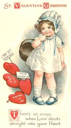 postcard.quenalbertini: Vintage Valentine Card