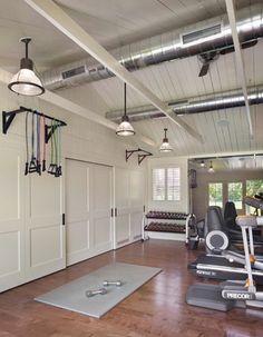 Dream Home Gym, Gym Room At Home, Home Gym Decor, Workout Room Home, Workout Rooms, Home Gym Design, House Design, Set Design, Home Gym Machine