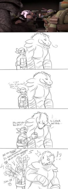 Black And Blue by Hashiree on DeviantArt I have to agree with Leatherhead on this one xD