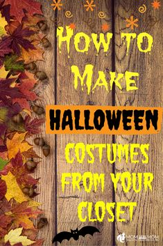 Make Halloween Costumes from your Closet!- Lots of people look for ways to save money on costumes and one of the best ways to do that is to make a costume from things you probably already have in your closet or around your home. Not only is it money -saving, but these costumes are great for last minute ideas since they don't require a bunch of extra shopping for special costume pieces. Here are 9 costume ideas you can probably whip up in no time, from your own closet! #Halloween Costumes…