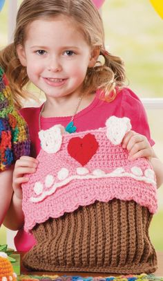 FREE Pattern: Crochet Cupcake Bag | Crochet Bag Tutorial from @joannstores | Kids Crochet Projects