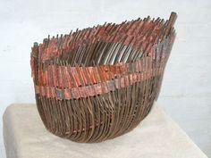 Dorte Tilma. Danish artist. Willow and copper.