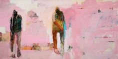 Chris  Gwaltney - Chris Gwaltney at Seager Gray Gallery showing Remake Return and abstract figurative oil painting in Mill Valley California San Francisco Bay Area