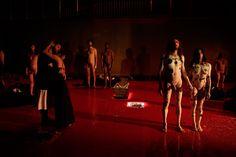 """""""You are my destiny (Lo stupro di Lucrezia)"""" by Angélica #Liddell. Photo by Luca Del Pia. VIE #Festival 2014 - Teatro Storchi, #Modena 16-17 ottobre 2014 #theatre"""