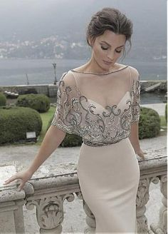 Buy discount Glamorous Stretch Satin & Tulle Spaghetti Straps Sheath Evening Dresses With Embroidery & Beads at Dressilyme.com