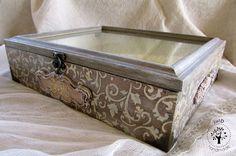 julD handmade: Wedding box Mixed Media Boxes, Wedding Boxes, Handmade Wedding, Hope Chest, Decoupage, Stencils, Decorative Boxes, Storage, Design